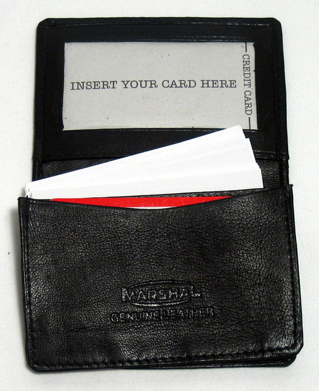 New Leather Business Card Holder Expandable Wallet Money Car