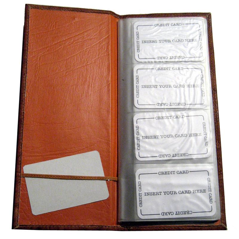 Genuine leather business 160 card holder organizer case for Leather business card organizer