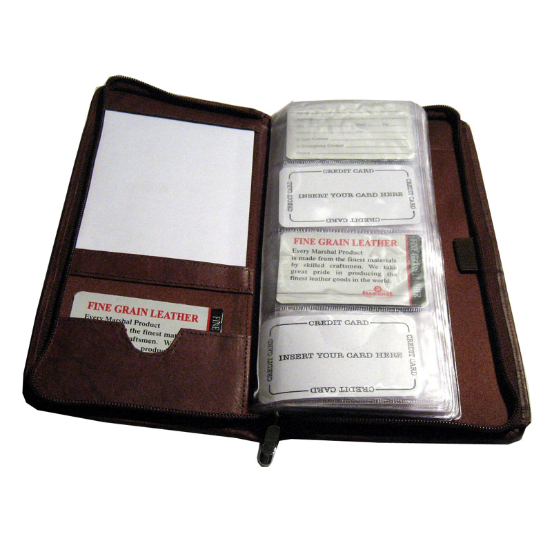 Genuine Leather Business Card Organizer Home Office 160