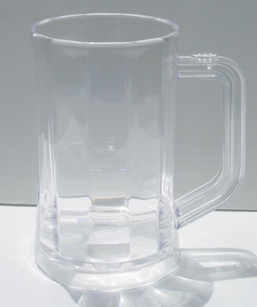 Clear Plastic Beer Mugs Set Of 6 Steins Glasses 16 Oz