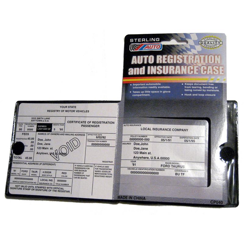 Auto Car Truck Registration Insurance Document Holder