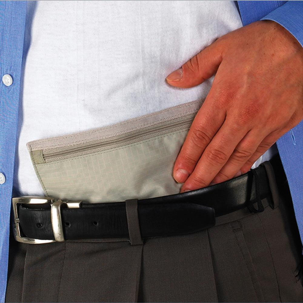 714954165dd1 Details about Lewis N Clark Hidden Travel Wallet Belt Money Pouch Security  Safe Holder ID New
