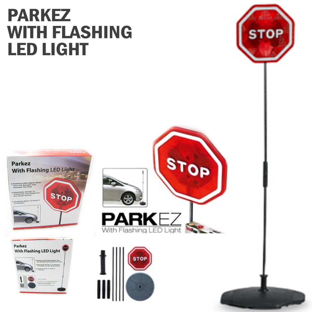 PARKING STOP SIGN PARKEZ FLASHING LED LIGTH CAR GARAGE