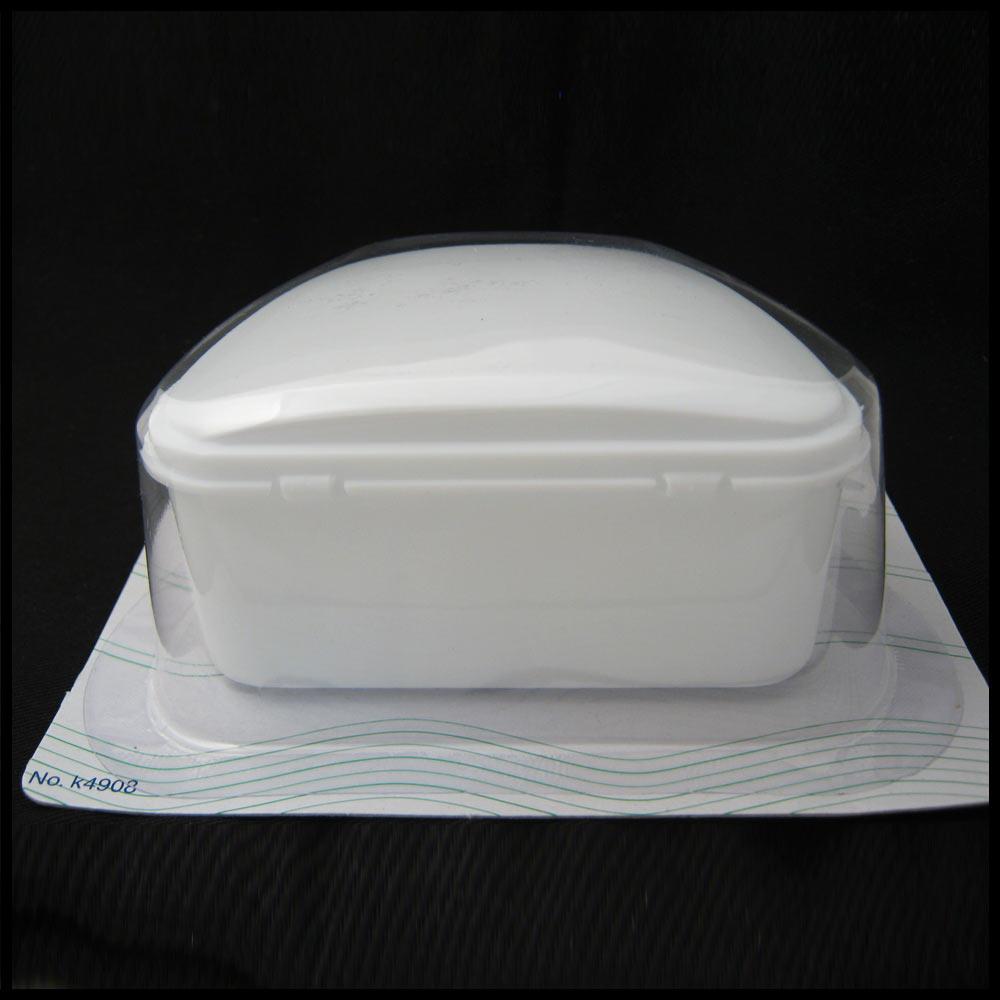 White Denture Bath Retainer Box Orthodontic Mouth Guard