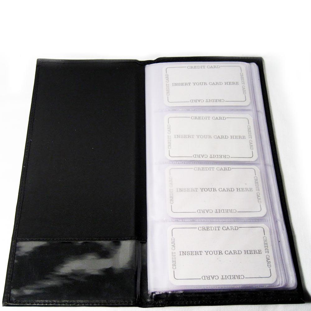 Genuine Leather Business Card Holder Book Organizer 96 Black ...