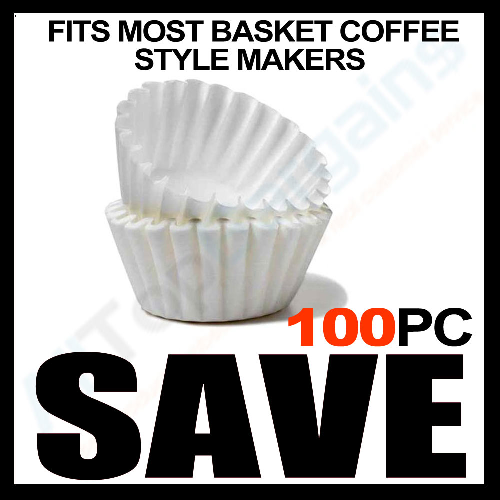 Farberware 5 Cup Coffee Maker Filter Size : 100 COUNT PAPER COFFEE TEA FILTERS BREWER BASKET MAKE 8-12 CUP MAKER BREW RITE ! eBay