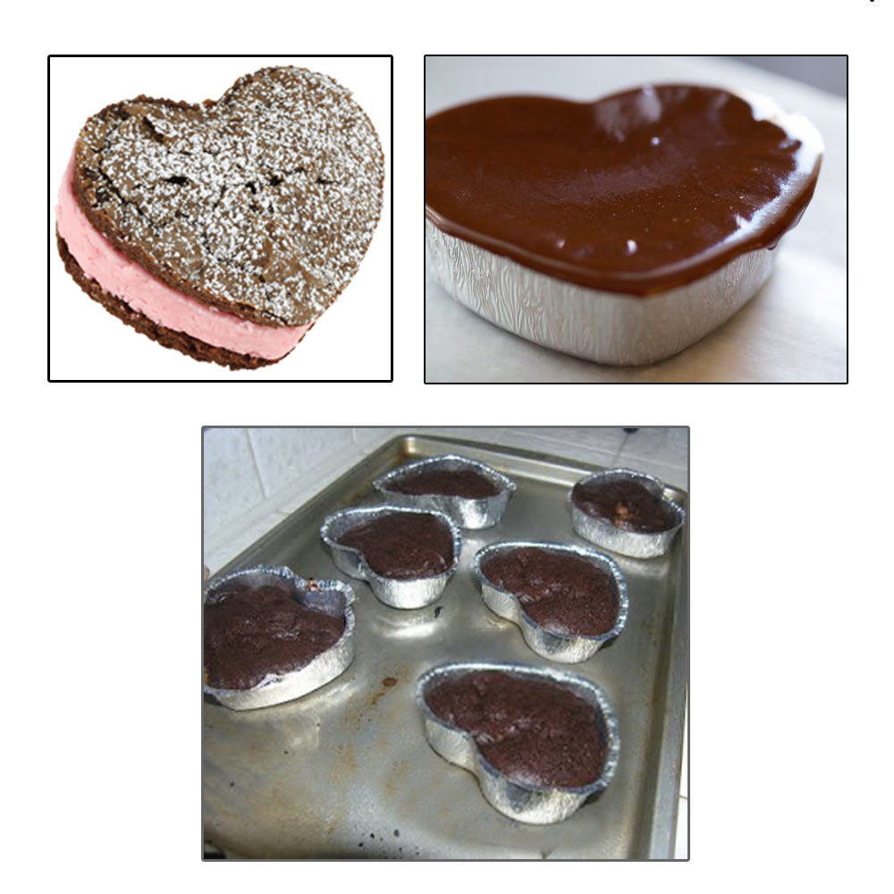 120 Aluminum Foil Heart Baking Cups Mold Cupcakes