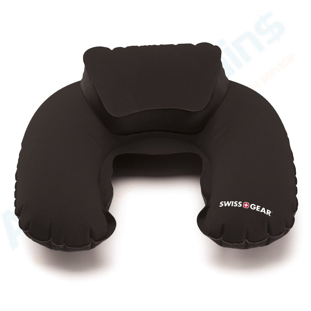 Swiss Travel Pillow Inflatable Double Comfort Pouch Neck