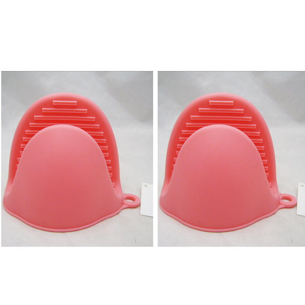 Silicone Pot Holders: 2 Silicone Oven Mitt Pot Holder Glove Grip Pinch Kitchen