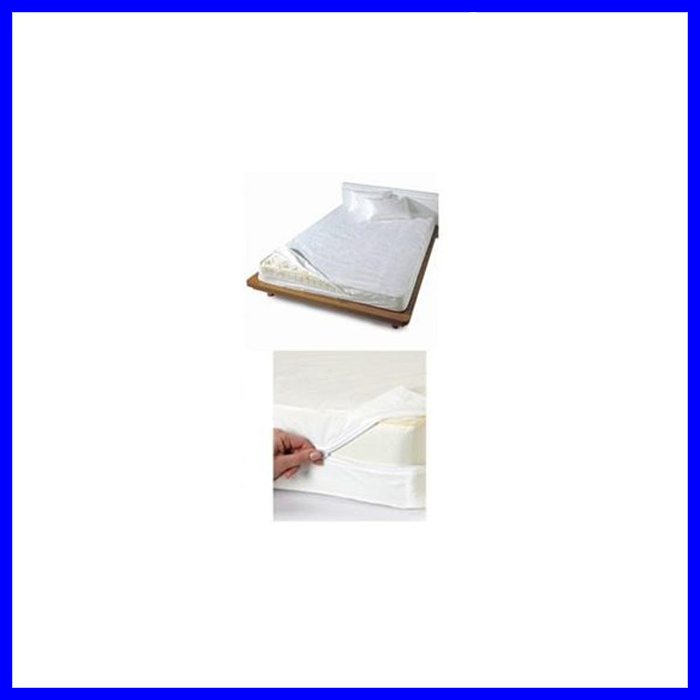 Twin Size Bed Mattress Cover Zipper Plastic Waterproof Bed Bugs .
