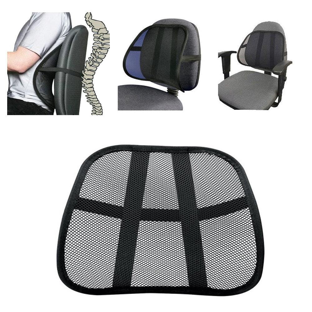 cushion mesh back lumbar support new car office chair truck seat black