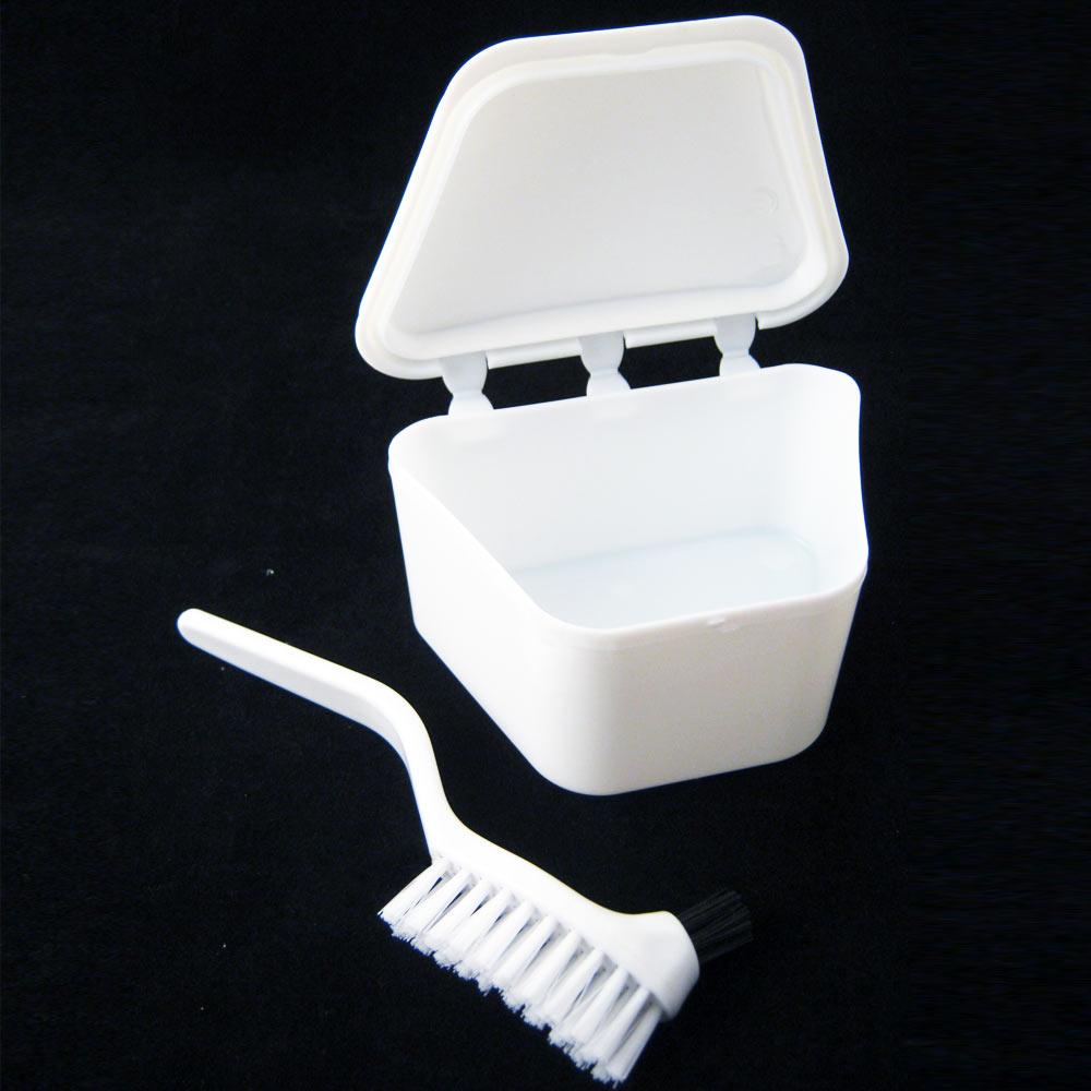 Best Bath Water Retainer : Denture bath brush dental retainer box orthodontic mouth