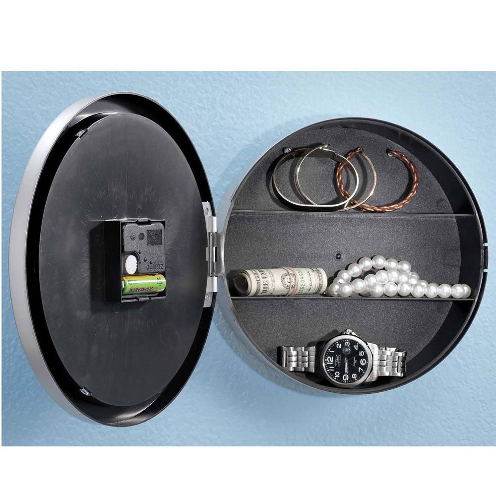 Wall clock hidden safe secret hide home security valuables cash alltopbargain amipublicfo Images