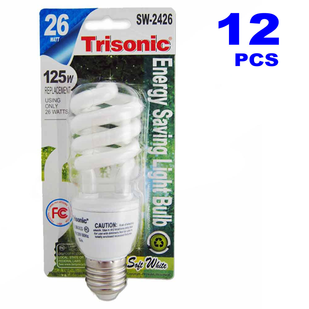 12 cfl light bulbs energy smart soft white 12 x 26 125 watt compact fluorescent Smart light bulbs