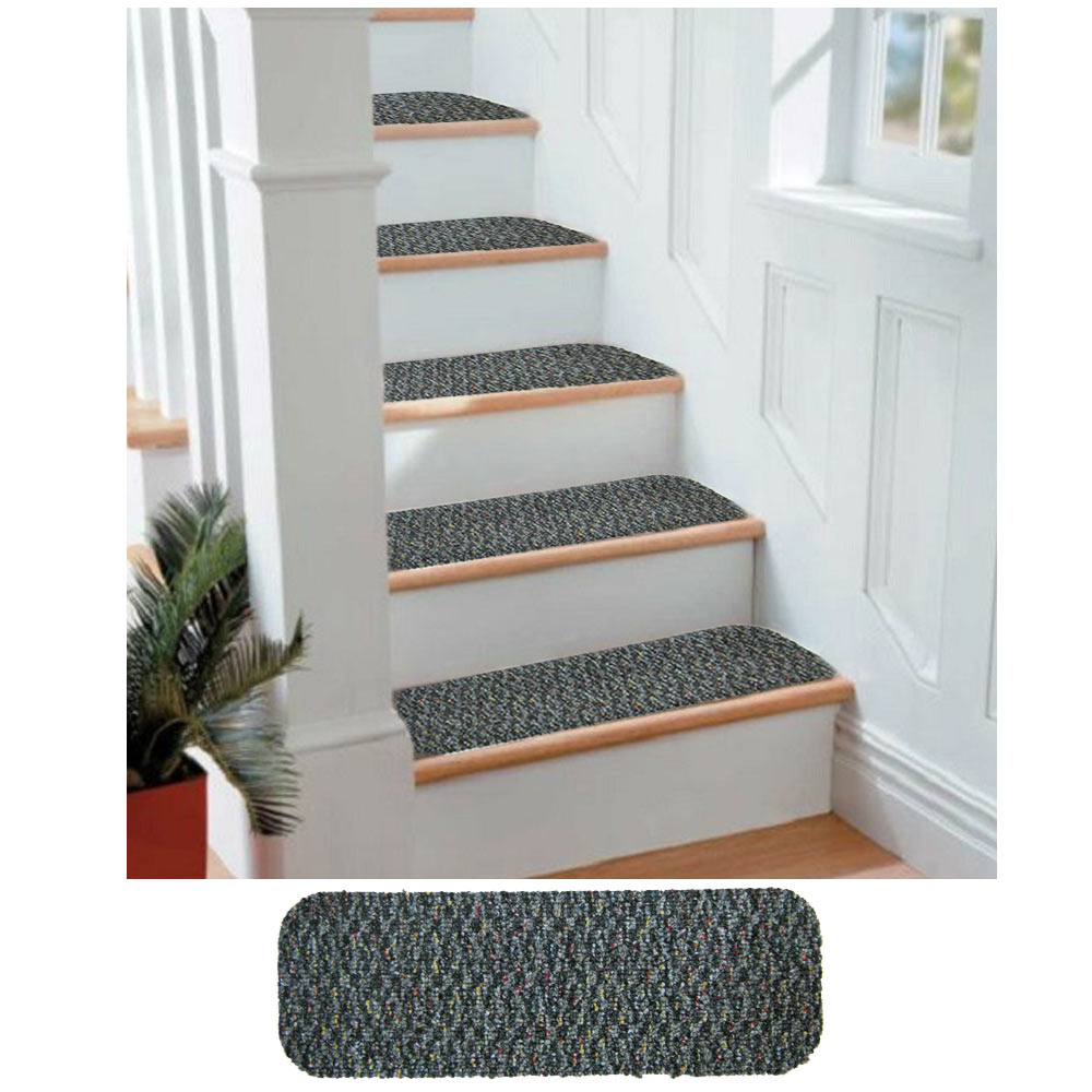 16 Stair Treads Indoor Outdoor Carpet Non Slip Staircase ...