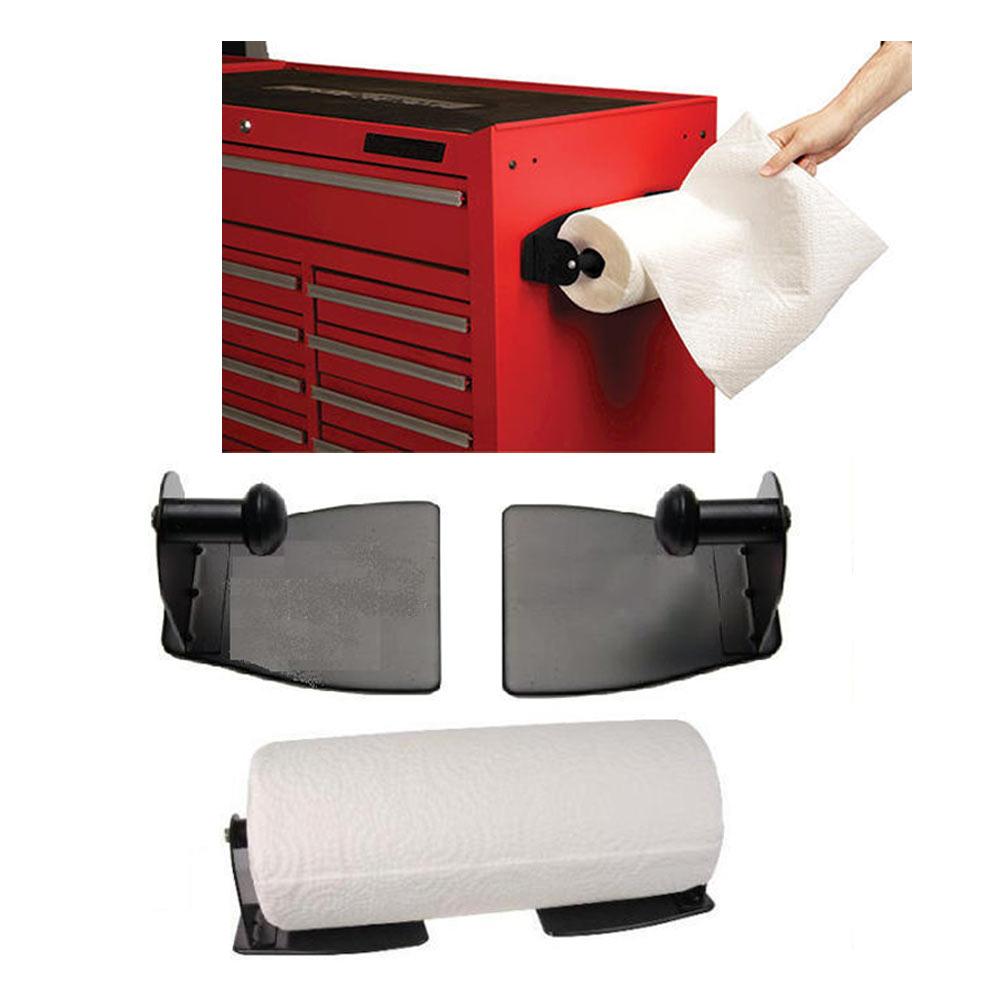 magnetic paper towel holder steel kitchen workshop houseware refrigerator mount ebay. Black Bedroom Furniture Sets. Home Design Ideas