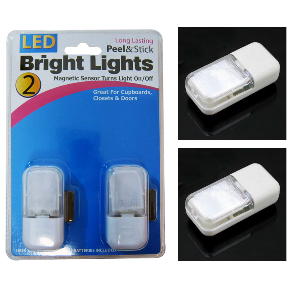 2 automatic magnetic sensor wireless led light lamp home