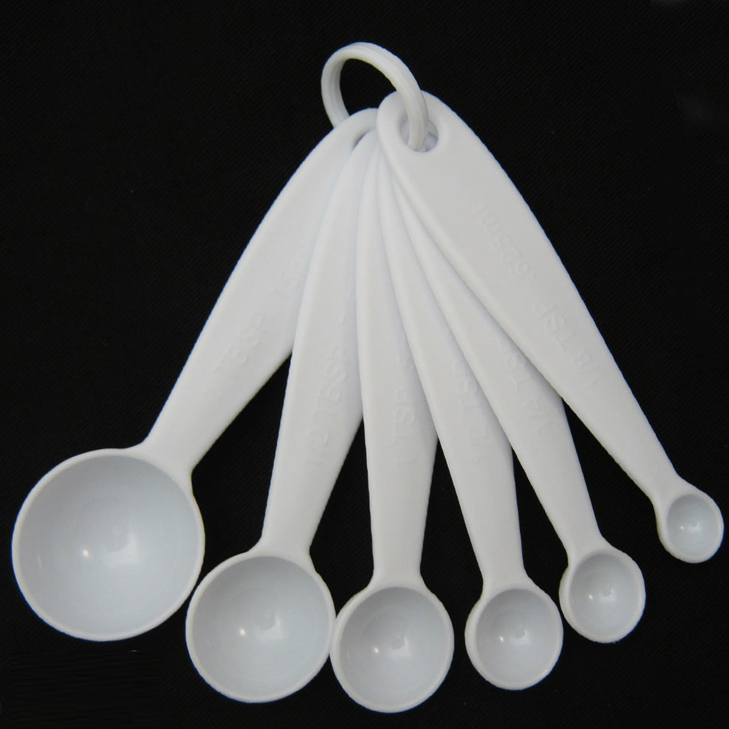 6 pc measuring plastic spoon teaspoon tablespoon tea scoop for 6 tablespoons to cups