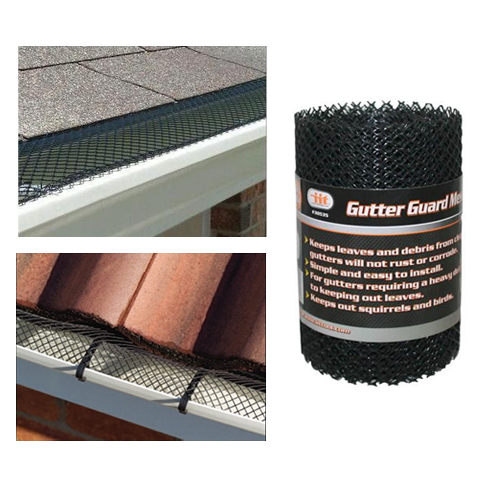 "Купить Gutter Guard Mesh 16 Ft X 6In Black Plastic 5"" G"