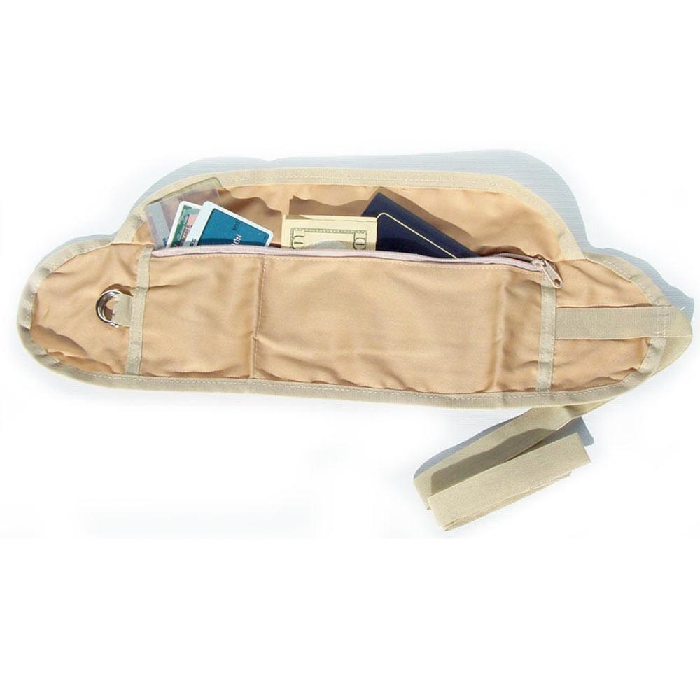 Coghlans money belt travel waist bum bag pocket id passport pouch hidden wallet ebay for Travel gear hidden pocket