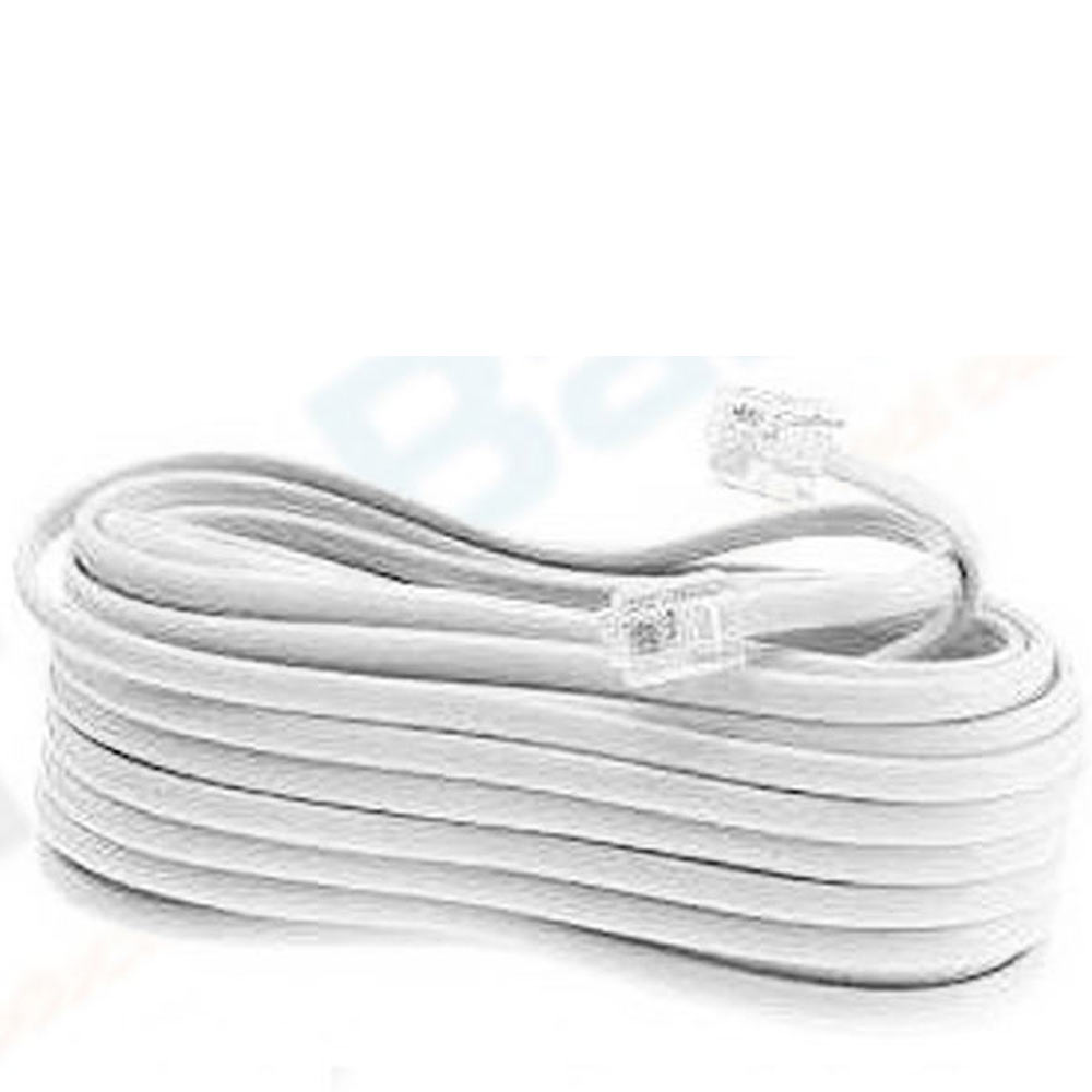 New 50 Ft Foot Telephone Phone Extension Cord Cable Line