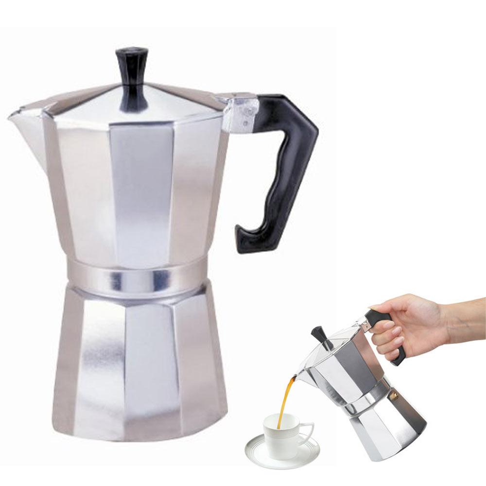 Stove Top Espresso Cuban Coffee Maker pot Cappuccino Latte 3 Cup Cafetera Cubana eBay