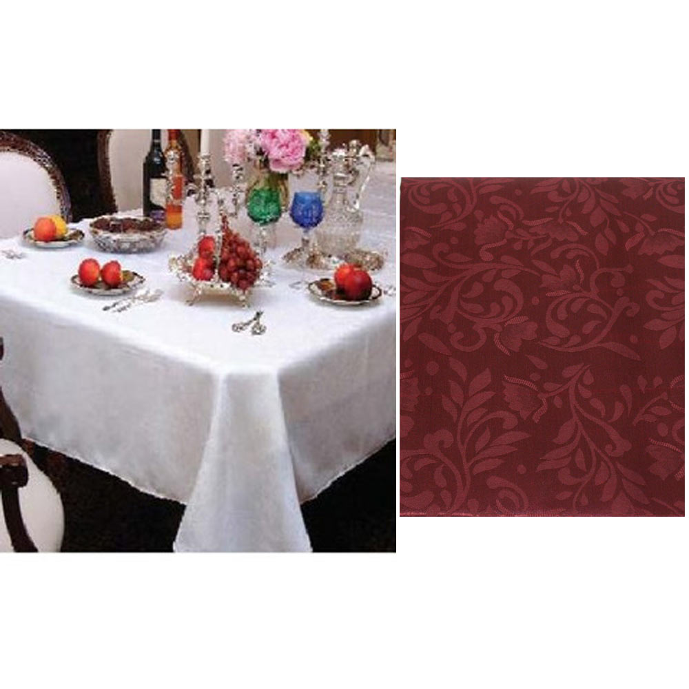 new damask table cloth linens 52 x 70 rectangular cover