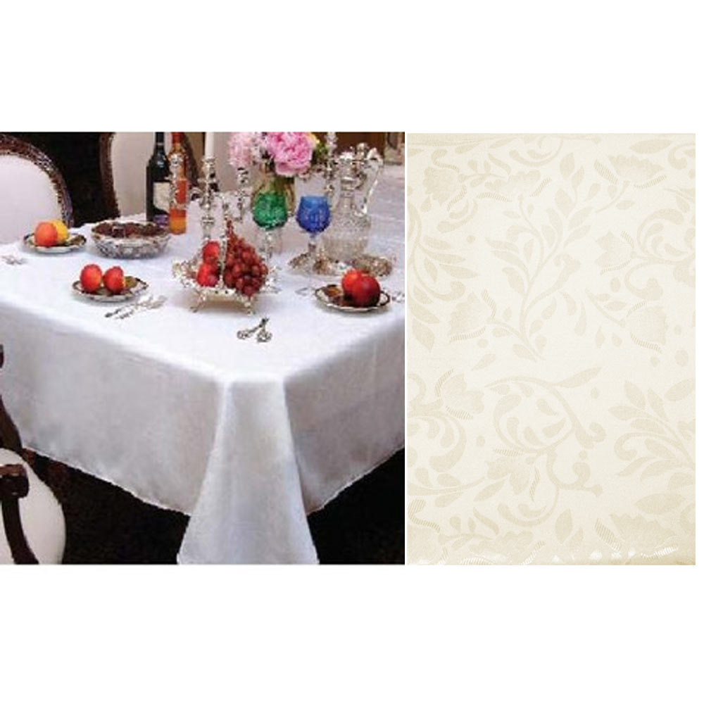 New damask table cloth linens 52 x 70 rectangular cover for Table runners 52 inches