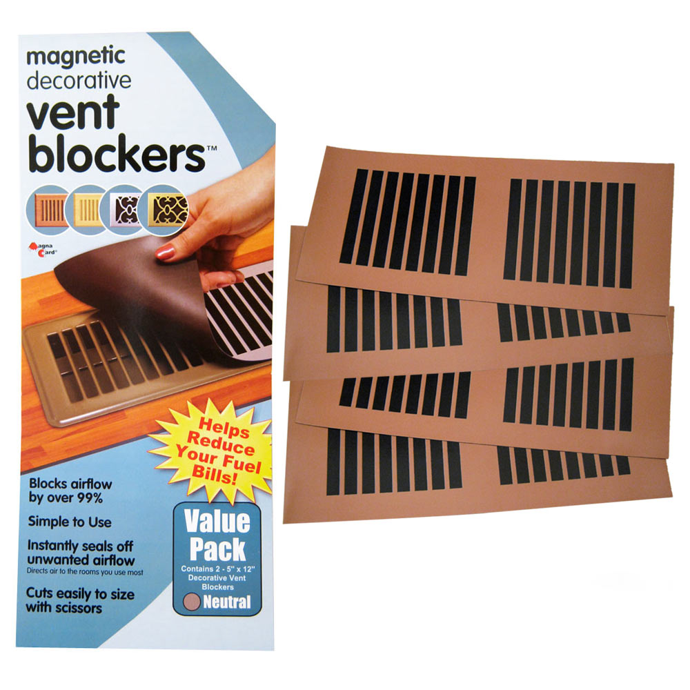 4 Decorative Magnetic Vent Cover Blocker Redirect Air