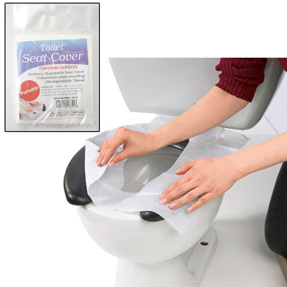 10 Disposable Toilet Seat Covers Paper Travel