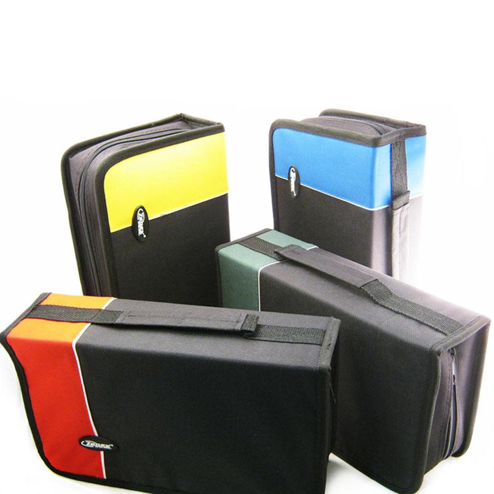 Cd holder dvd case storage wallet disc organizer book media office capacity 128 ebay - Dvd case holder shelf ...