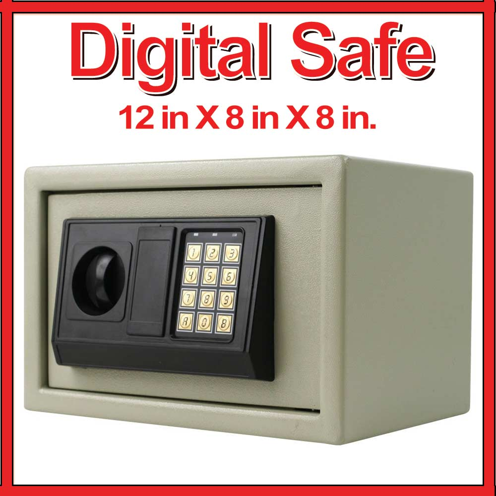 digital steel safe box large electronic keypad lock security wall home gun lock ebay. Black Bedroom Furniture Sets. Home Design Ideas