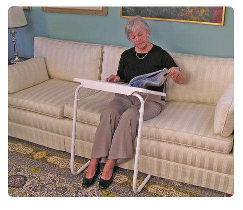 table mate foldable folding adjustable tray 21 to 28 plastic desk eat seen tv ebay. Black Bedroom Furniture Sets. Home Design Ideas