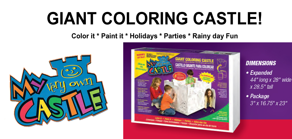 My Very Own Castle Cardboard Kids Coloring Playhouse on ...