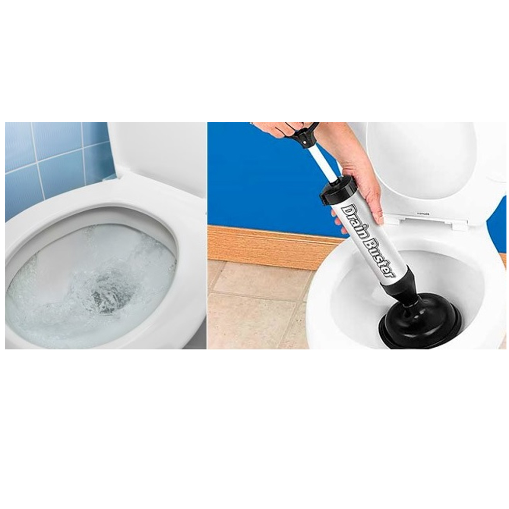 new drain buster plunger two heads clears tough clogs toilet sink drains sinks ebay. Black Bedroom Furniture Sets. Home Design Ideas