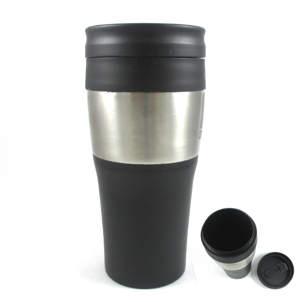 16 oz stainless steel insulated double wall travel coffee tea mug cup thermos ebay. Black Bedroom Furniture Sets. Home Design Ideas