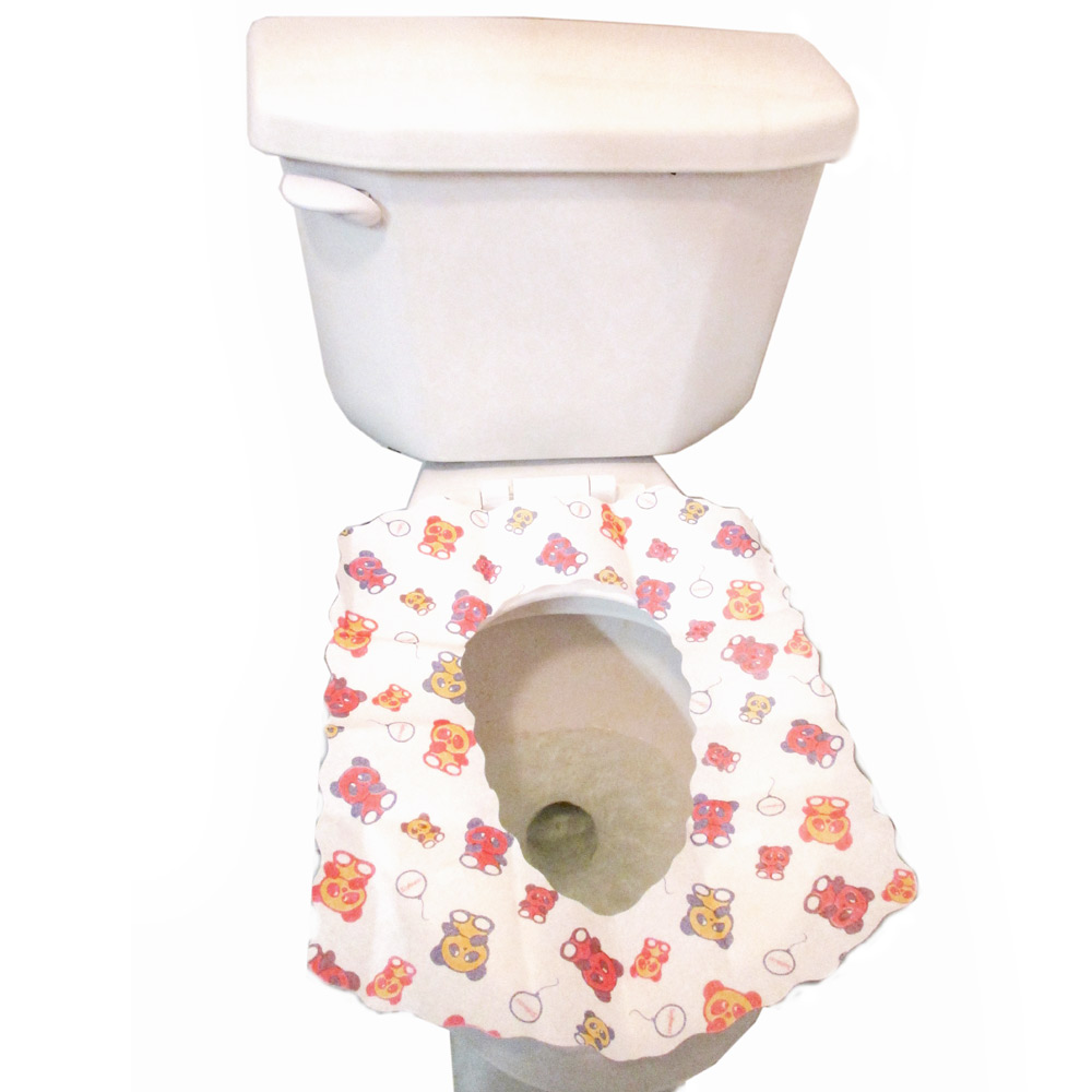 10 Disposable Kids Half Fold Paper Toilet Seat Covers