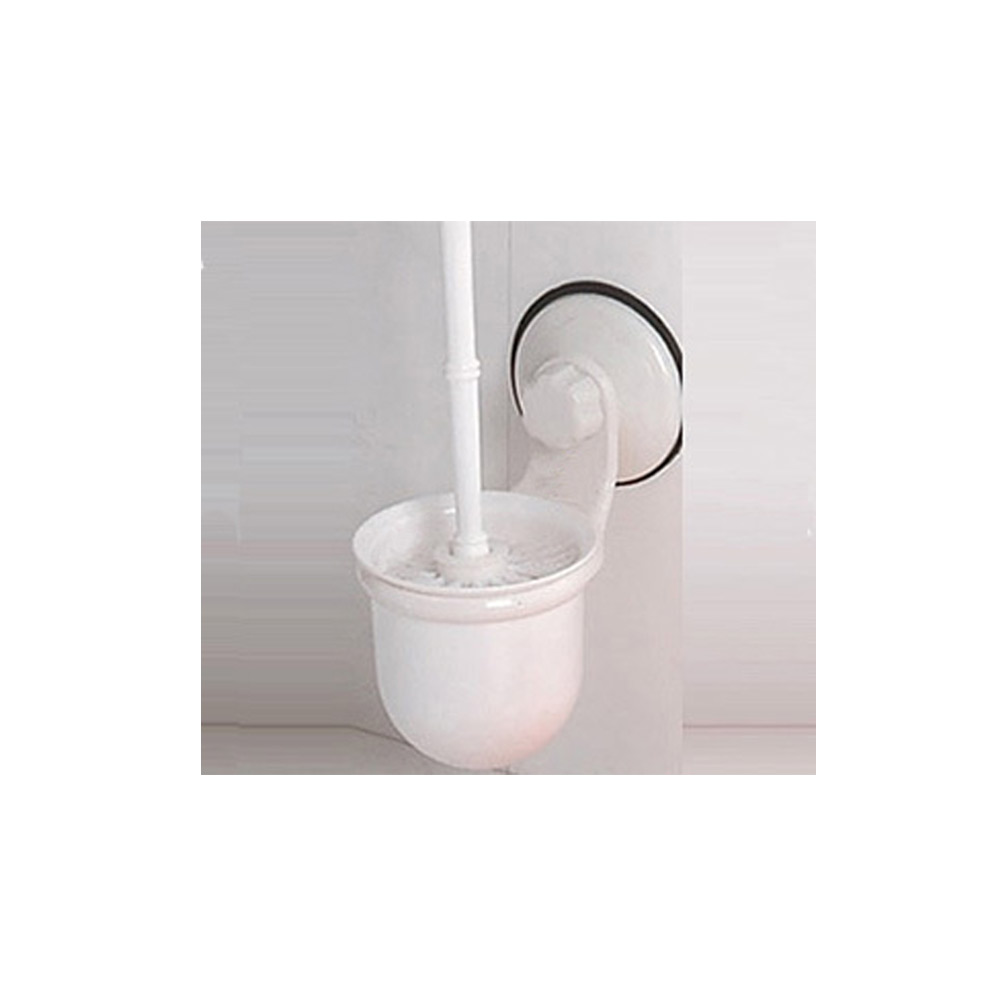 Wall Mounted Toilet Plastic Brush Holder Suction Cup Bathroom Cleaner Set New Ebay