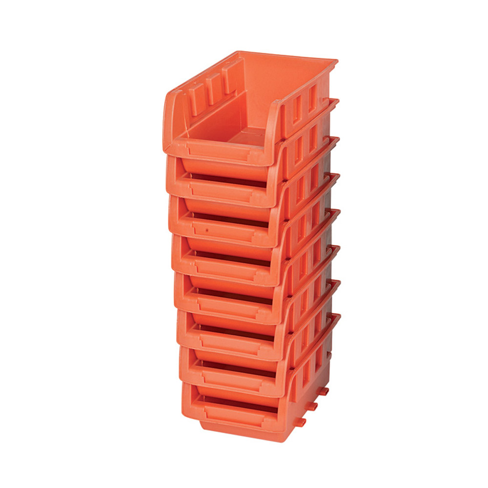 8 Stackable Storage Bins Plastic Small Container Organizer