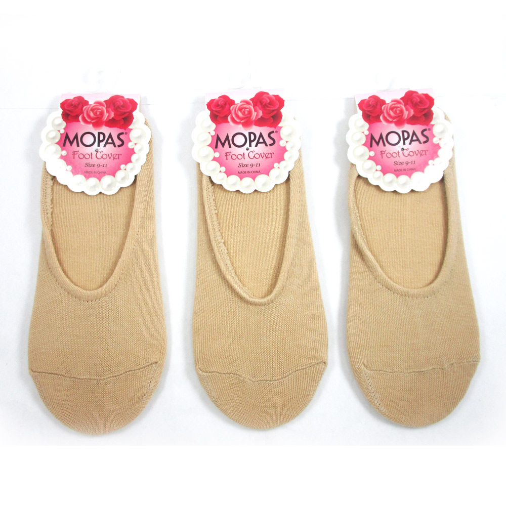 3 pairs womens foot covers footies dress flat shoes soft