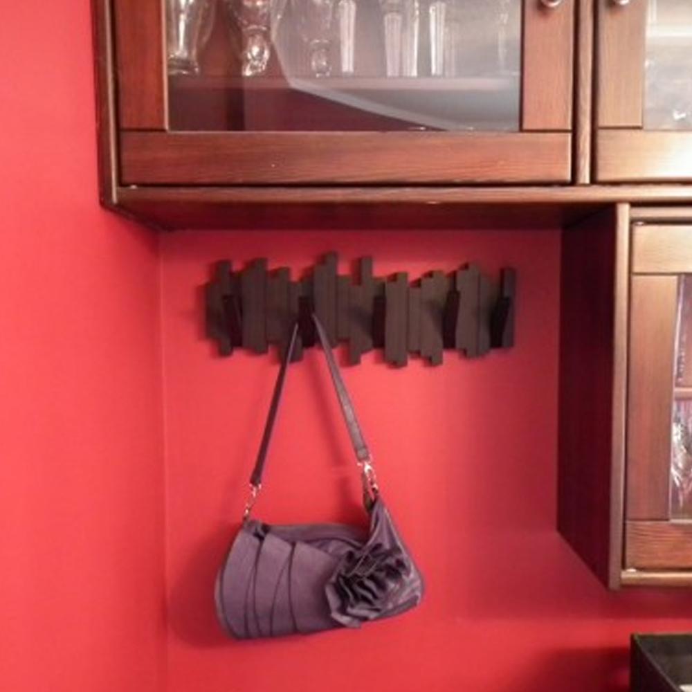 umbra sticks sculptural 5 hook wall mounted coat rack hanger purse scarf holder ebay. Black Bedroom Furniture Sets. Home Design Ideas