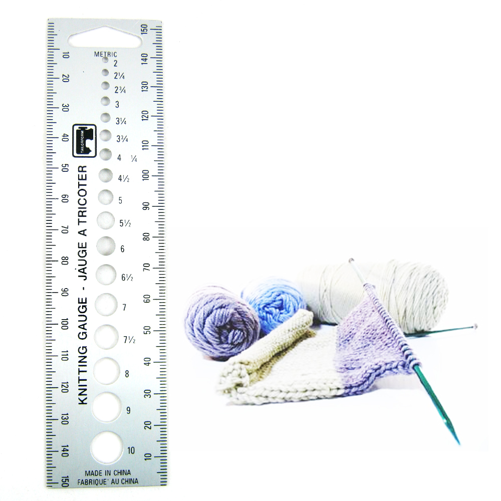 Knitting Gauge Tool : New knitting gauge knit needle sizer ruler measure tool us