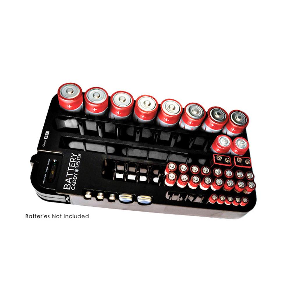 72 Battery Caddy Storage Plastic Holder Rack Organizer