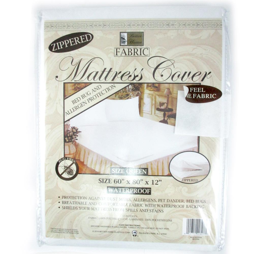 1 Queen Size Zippered Mattress Cover Waterproof Bed Bug
