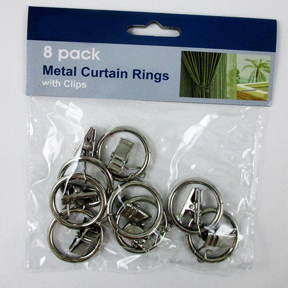 16 Metal Curtain Drapery Clip Rings 1 25 Quot Inner Diameter