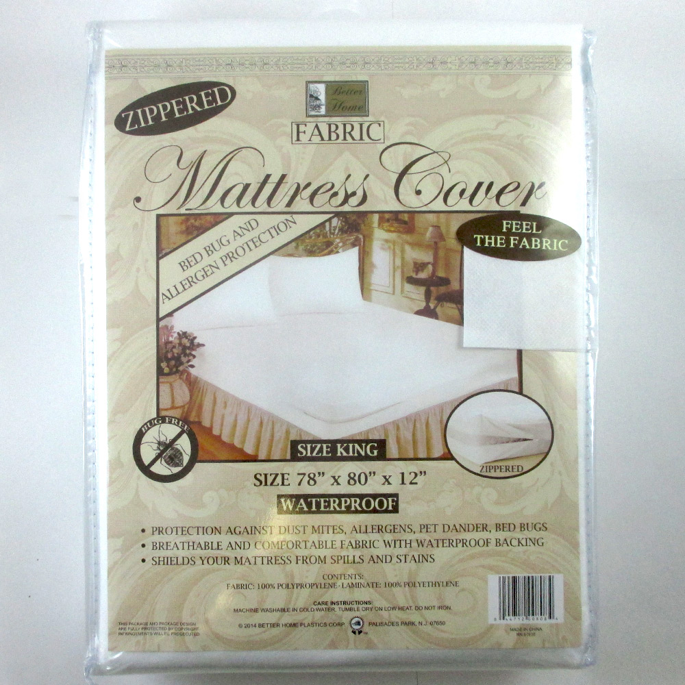 King Size Mattress Cover Zippered Fabric Protector Bed