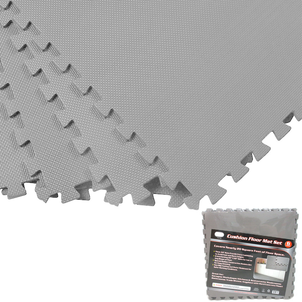 Gray 128 Sqft Exercise Play Foam Gym Floor Flooring Mat