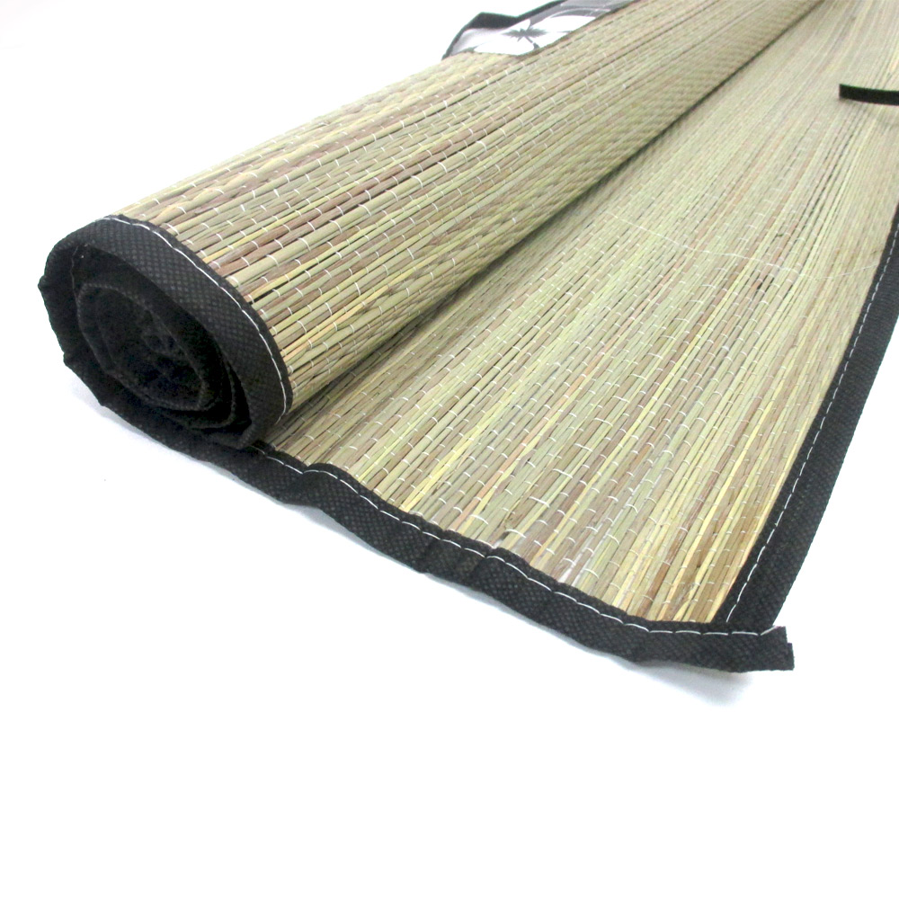 Straw beach mats large 69 5 x yoga pool sand for Garden pool mats