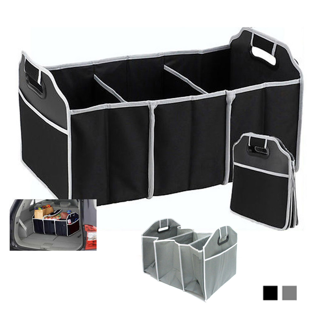 Image is loading Trunk-Organizer-Collapsible-Folding-Caddy-Car-Truck-Auto-  sc 1 st  eBay & Trunk Organizer Collapsible Folding Caddy Car Truck Auto Storage Bin ...