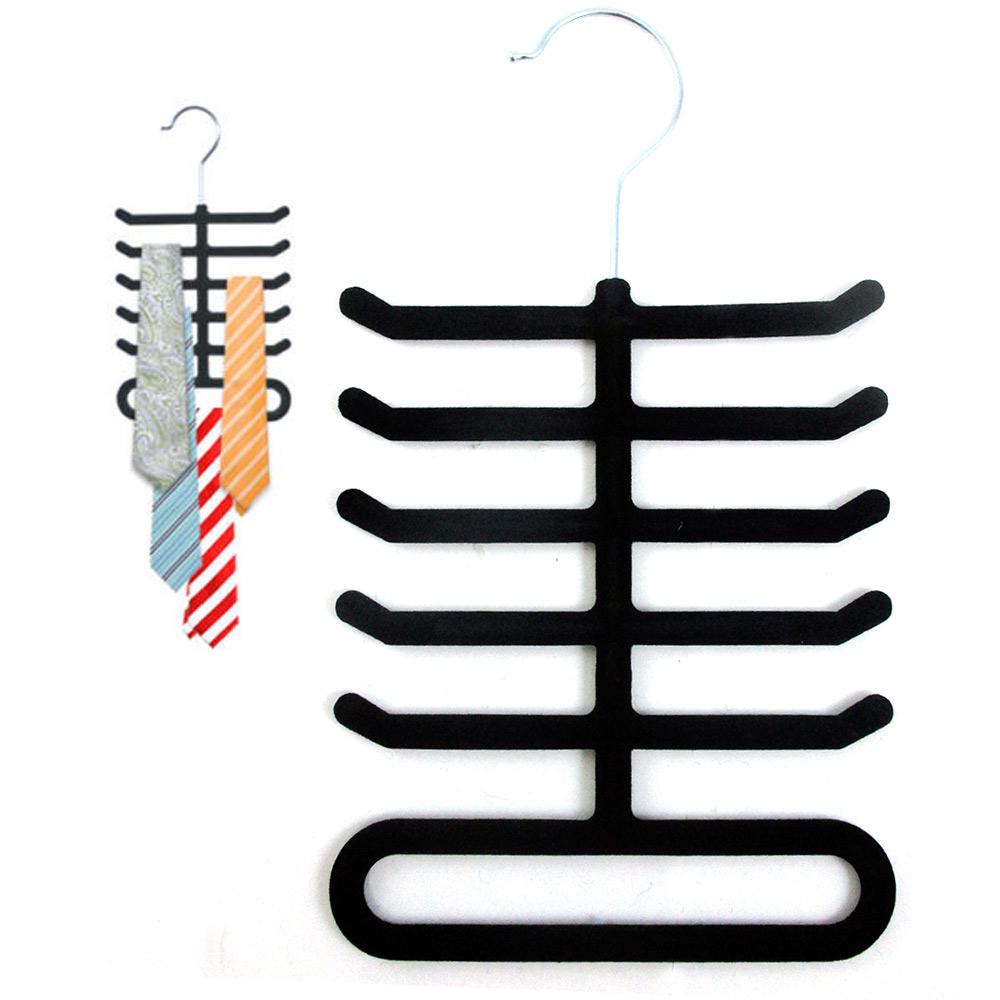 velvet nonslip belt necktie tie hanger black rack